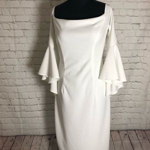 Dresses & Skirts - Stunning white dress with ruffle bell sleeves
